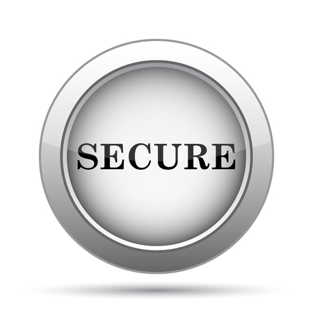secure icon: Secure icon. Internet button on white background.