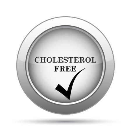 cholesterol free: Cholesterol free icon. Internet button on white background.