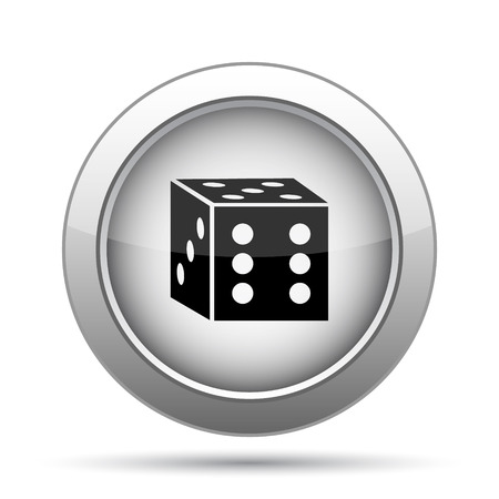 odds: Dice icon. Internet button on white background.