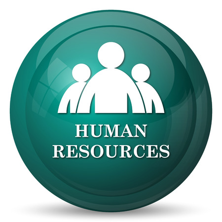 resources: Human Resources icon. Internet button on white background.