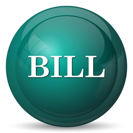 payable: Bill icon. Internet button on white background.