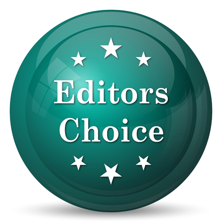approval button: Editors choice icon. Internet button on white background.