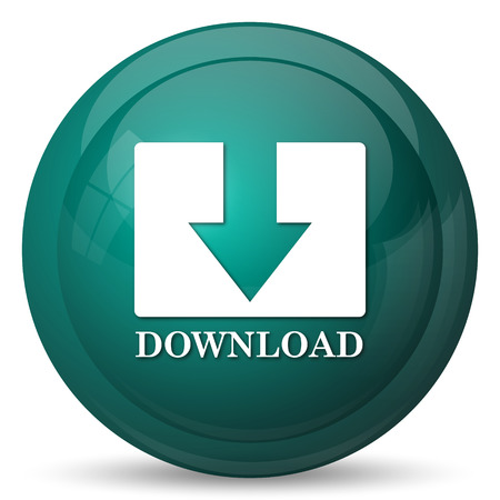 Download icon. Internet button on white background.