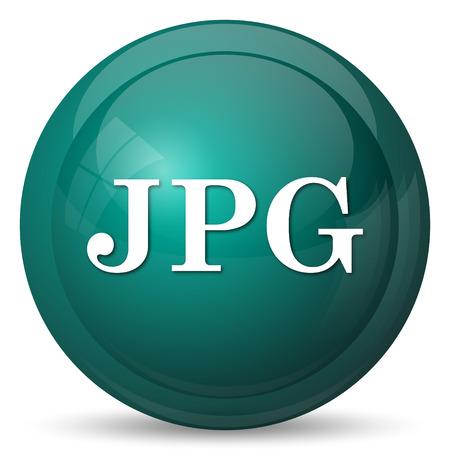 jpg: JPG icon. Internet button on white background.