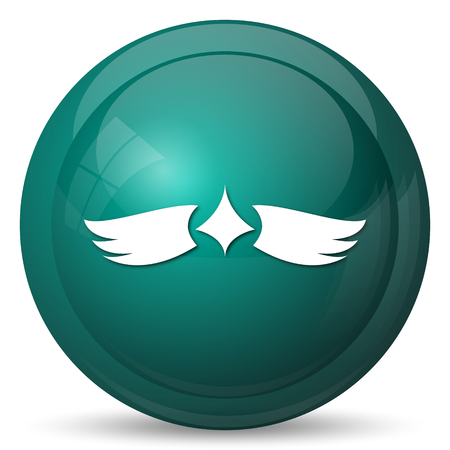 chastity: Wings icon. Internet button on white background. Stock Photo