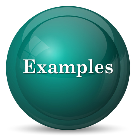 examples: Examples icon. Internet button on white background.
