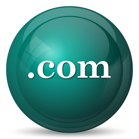 commercially: .com icon. Internet button on white background.