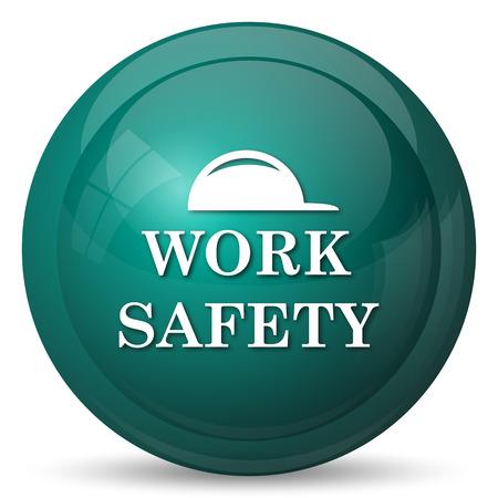 dangerous work: Work safety icon. Internet button on white background.