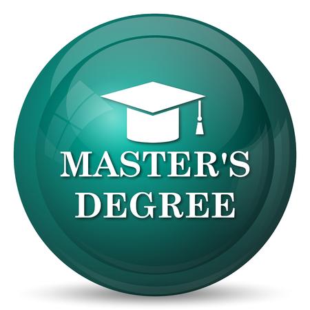 master degree: Masters degree icon. Internet button on white background.