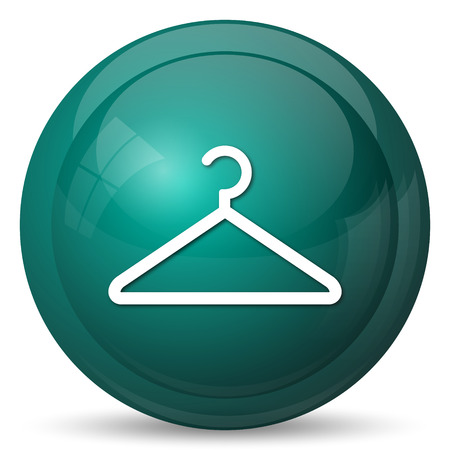 clothing rack: Hanger icon. Internet button on white background.
