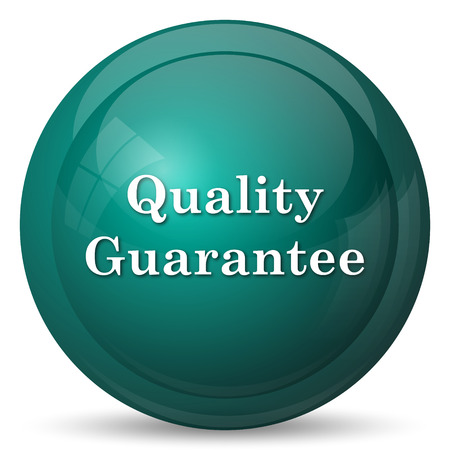 best protection: Quality guarantee icon. Internet button on white background. Stock Photo