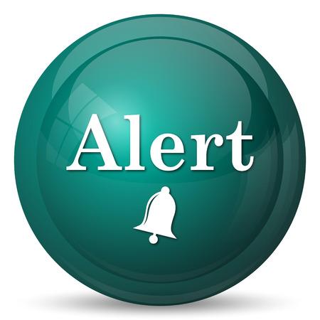 Icono de alerta. Botón de internet sobre fondo blanco.