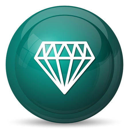 karat: Diamond icon. Internet button on white background.