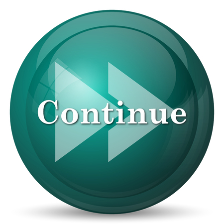 continue: Continue icon. Internet button on white background.