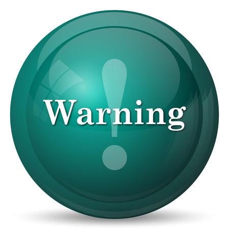 warning icon: Warning icon. Internet button on white background. Stock Photo