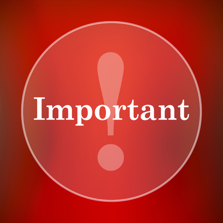 notable: Important icon. Internet button on red background. Stock Photo