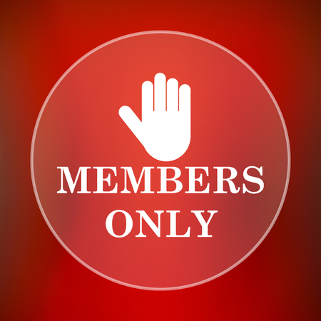 fellowship: Members only icon. Internet button on red background.