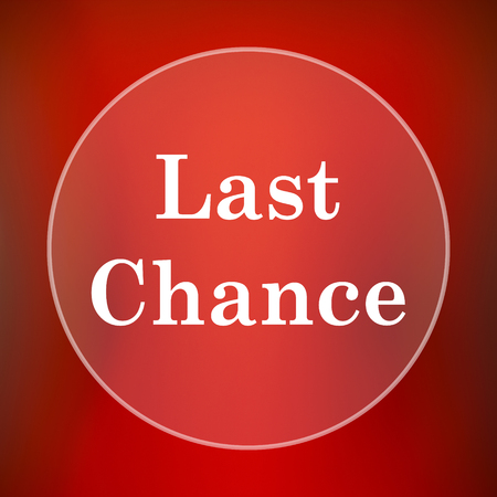 chance: Last chance icon. Internet button on red background. Stock Photo