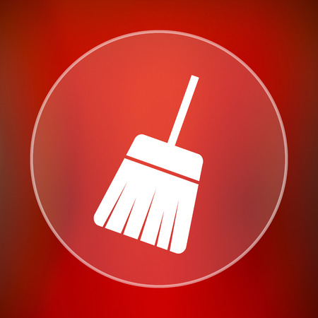 sweep: Sweep icon. Internet button on red background. Stock Photo