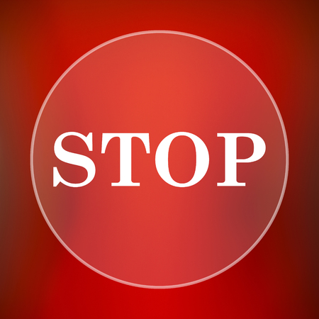 running off: Stop icon. Internet button on red background.