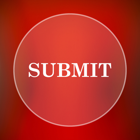 submitting: Submit icon. Internet button on red background.