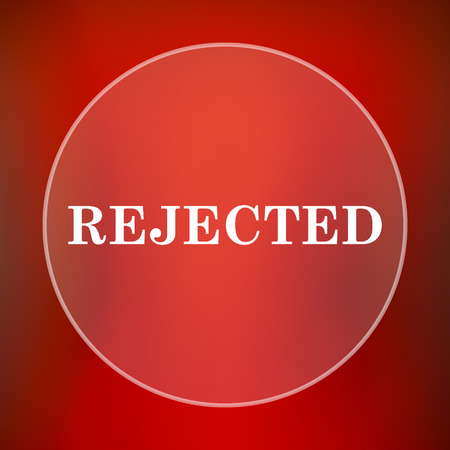 rejected: Rejected icon. Internet button on red background. Stock Photo