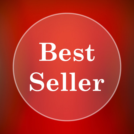 seller: Best seller icon. Internet button on red background. Stock Photo