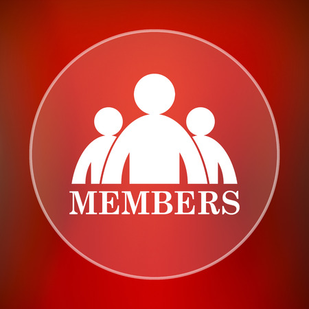 unauthorized: Members icon. Internet button on red background.