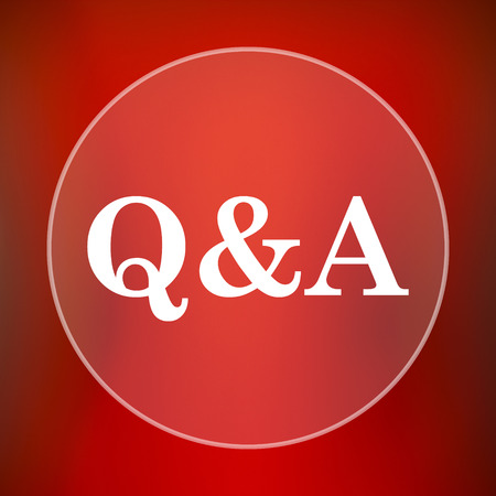 qa: Q&A icon. Internet button on red background. Stock Photo