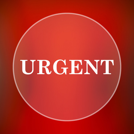 promptness: Urgent icon. Internet button on red background.