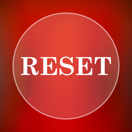 redecorate: Reset icon. Internet button on red background.