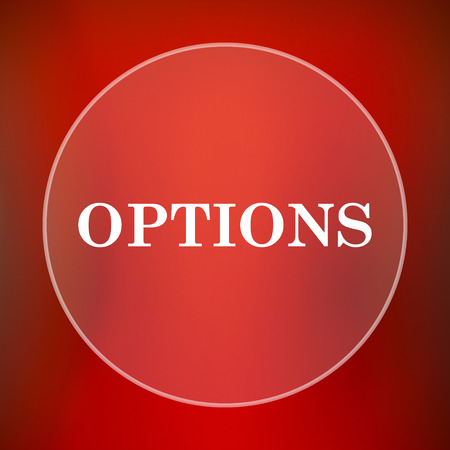 preferences: Options icon. Internet button on red background.