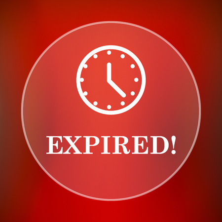 expired: Expired icon. Internet button on red background.