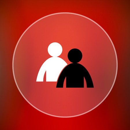 work related: Mentoring icon. Internet button on red background.