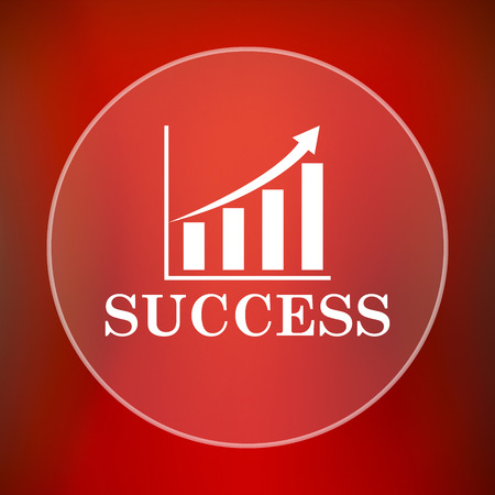 opportunity sign: Success icon. Internet button on red background. Stock Photo