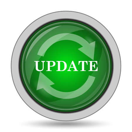 update: Update icon. Internet button on white background. Stock Photo