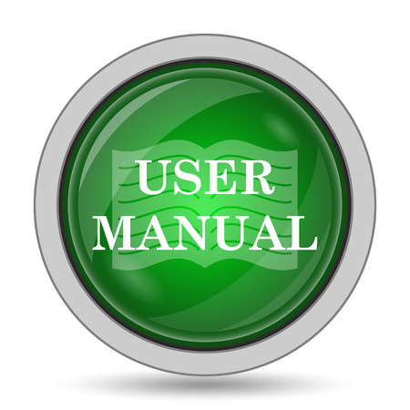 reference: User manual icon. Internet button on white background.