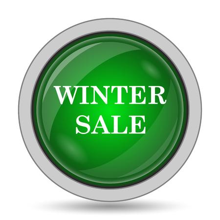 white winter: Winter sale icon. Internet button on white background.