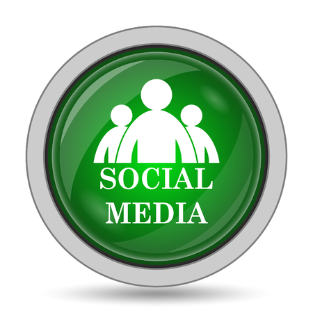 blogging: Social media icon. Internet button on white background.
