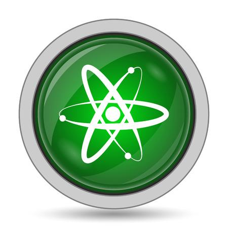 atoms: Atoms icon. Internet button on white background.