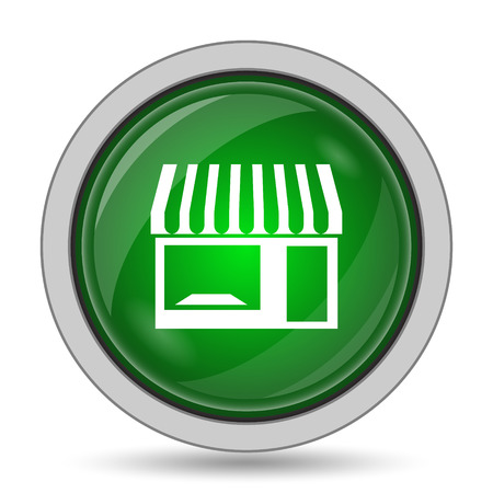 caf: Store icon. Internet button on white background. Stock Photo
