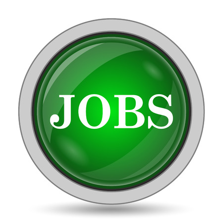 job offers: Jobs icon. Internet button on white background.