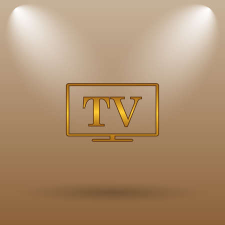 channel: TV icon. Internet button on brown background.