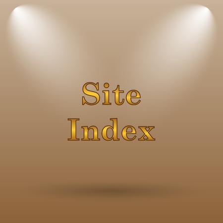 index: Site index icon. Internet button on brown background.
