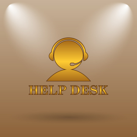 helpdesk: Helpdesk icon. Internet button on brown background.
