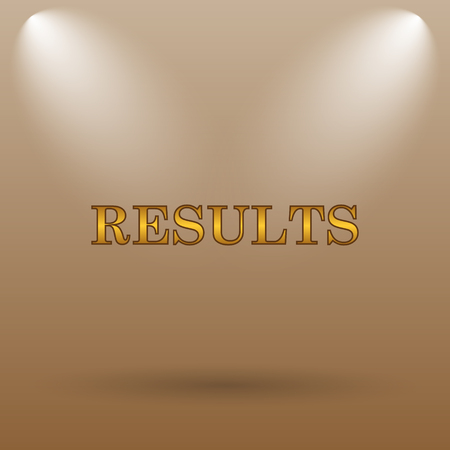 consequence: Results icon. Internet button on brown background.