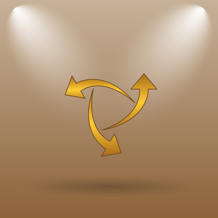 succes: Change icon. Internet button on brown background.