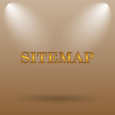 Sitemap icon. Internet button on brown background.