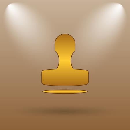 qualify: Stamp icon. Internet button on brown background.