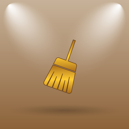 sweep: Sweep icon. Internet button on brown background.